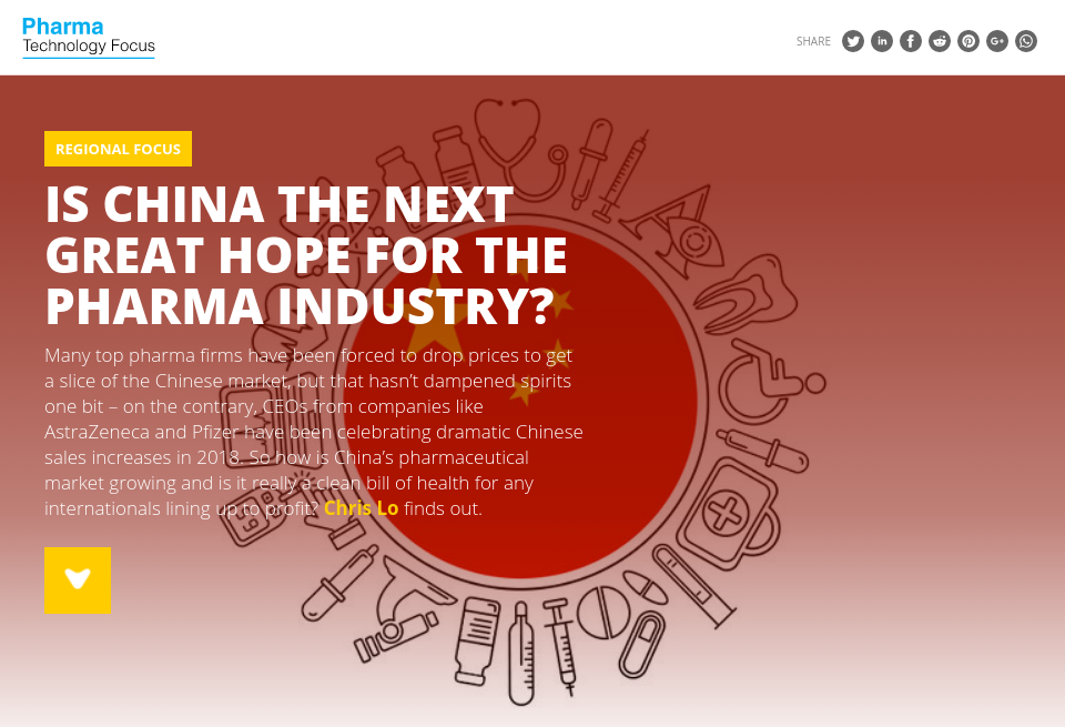 Is China the next great hope for the pharma industry? - Pharma