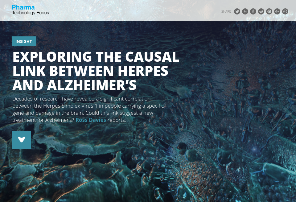 Exploring the causal link between herpes and Alzheimer's - Pharma