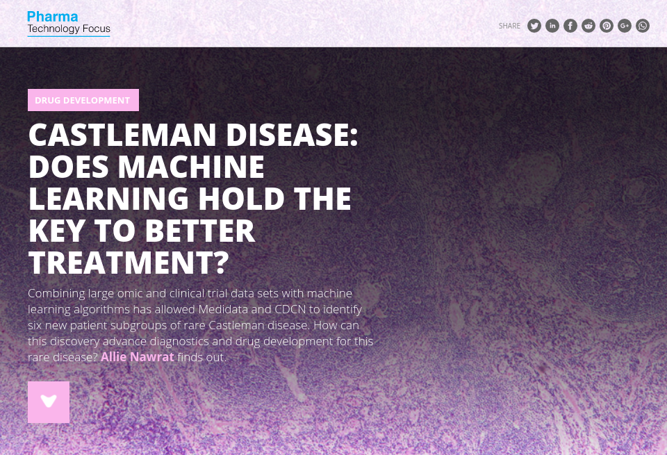 castleman disease  does machine learning hold the key to better treatment