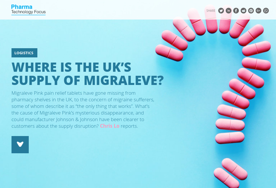 Where is the UK's supply of Migraleve? - Pharma Technology
